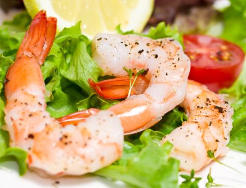 Rucola-Salat mit Garnelen