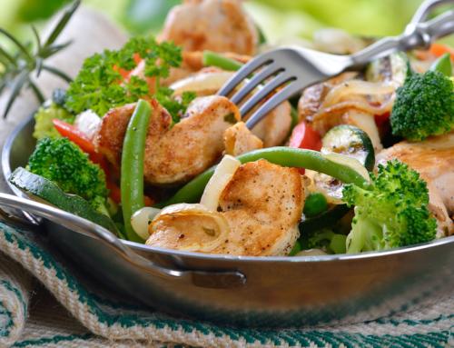 Italienisches Gemüse mit Hühnerbrust
